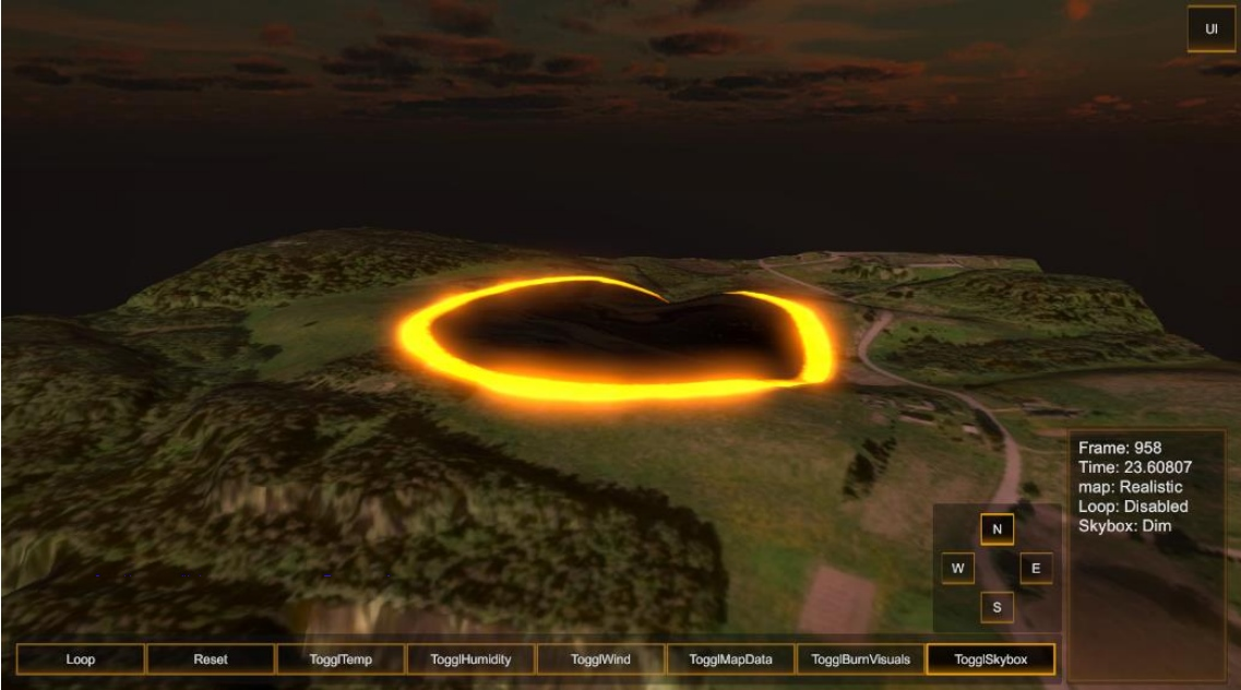 thesis-wildfire-simulation